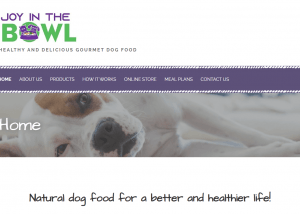Healthy and delicious gourmet dog food - Joy in the Bowl